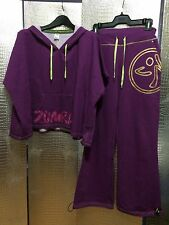 ZUMBA  Purple Poncho & Athletic  knit sweatpants Sz S