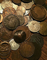 LOT OF 50 MOSTLY CANADA + FOREIGN COINS LOT OF 50 COINS