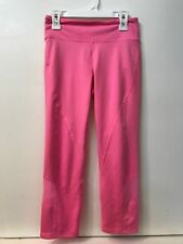 GH Gilly Hicks Sport Athletic Yoga Leggings Pants Womens Pink Mesh Inset XS