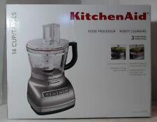 NEW OPEN BOX KitchenAid KFP1466CU 14-Cup Food Processor w/Dicing Kit,Silver $400