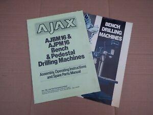 AJAX AJB DRILLING M/C OPERATING MANUAL & SALES CATALOGUE