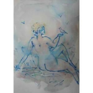 NB*Nu*Aquarell*21x29,7cm*Original*Nude*Akt*Erotik*water-colour*Unikat!