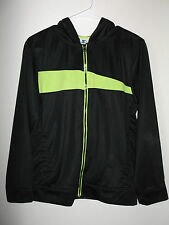 Champion Boys Young Men's  XXL Black  Green Zip Front Long Sleeve Jacket Hoody