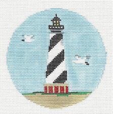 *New* Cape Hatteras Light, Nc handpainted Needlepoint Canvas Kathy Schenkel Rd.