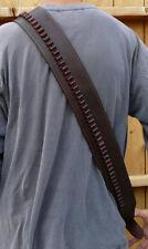 Western BANDOLIER BANDOLERO Strap Belt.177 22 22LR Caliber Ammo. Brown Leather
