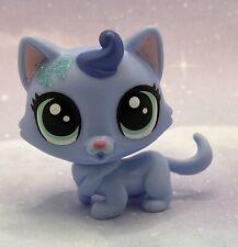 Littlest Pet Shop Authentic No # Blue Lucky Munchkin Cat Glitter Bow