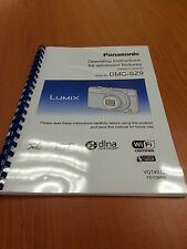 PANASONIC LUMIX DMC SZ9 INSTRUCTION MANUAL USER GUIDE FULLY PRINTED 223 PAGES A5