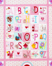 SALE - ABC Girls Quilt - sweet pieced & applique quilt PATTERN - Red Brolly
