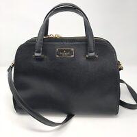 Kate Spade Kay Street Pebble Small Felix Satchel Black Shoulder Bag Leather