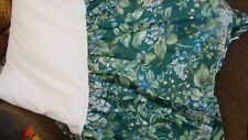 "Laura Ashley Bramble Berry FULL bedskirt dust ruffle   74"" x 80"""