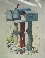 Mail & Message Paragon 1976 Crewel Embroidery Kit Personalize Your Mailbox 0548