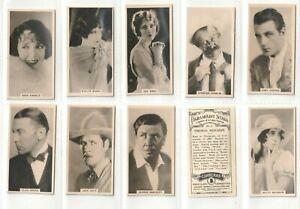 Carreras 1927 Set 27 Paramount Stars Adolphe Zukor Jesse Laski, BPSchulberg(F52)