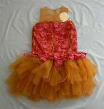 "NWT MISCHKA AOKI GIRLS ""WHO'S THE QUEEN"" BURNT ORANGE RED DRESS SZ 10 US$987.00"