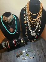 Bohemian Style Jewelry Lot of 21 Pieces  (Lot#4)