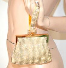 BOLSO CLUTCH bag oro strass cristales  mujer elegante ceremonia matrimonio 1300