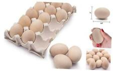 15Pcs Unpainted Wooden Fake Easter 15 Pcs Unpainted Wooden Fake Easter Eggs