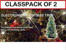 (PACK OF 2) MUSICAL CHRISTMAS TREE KITS with 15 FLASHING LED'S AND 3 TUNES