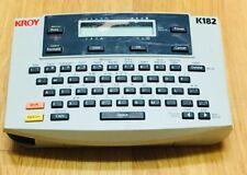 Kroy K182 Personal Label Printer - UNTESTED
