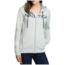 Nautica Women's Full Zip Fleece Hoodie Sweatshirt Jacket Heather Grey Size M NWT