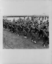 1957 Tunisian Girls in uniform Independence Day Parade Press Photo