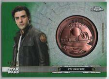 2019 Star Wars Chrome Legacy Droid Medallions Green DC-BP Poe Dameron 43/50