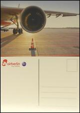 NEU AIR BERLIN TURBINE POSTKARTE FLUGZEUG TRIEBWERK AIRLINE FLIEGER
