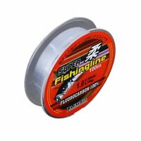 Fishing Line Tackle Fluorocarbon Super Strong Japanese 100 M Nylon Transparent