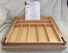 "Rev A Shelf 21"" Wood Tiered Cutlery Divider Drawer Silverware Tray Maple WTCDK"