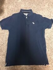 Ambercrombie Polo Shirt Navy Blue Size Youth XL