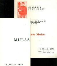 MULAS Franco, Franco Mulas. Galleria La Nuova Pesa