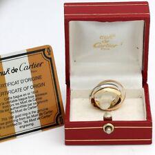 Les must de Cartier Trinity Tricolour 18KT Gold mit Box & Zertifikat in Gr.50