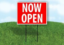 Now Open Red Plastic Yard Sign Road Sign with Stand