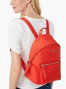 New Kate Spade The Chelsea Backpack the little better Nylon Currant Jam (Red)