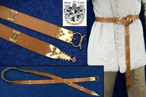 NEW Chivalric Medieval Tunic Belt For Re-enactment Stage & LARP