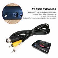 Sega Mega Drive MD 1 Master System 1 RCA Phono AV Audio Video Lead A/V Cable DC