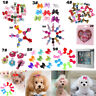 10/20/50pc Pet Cat Dog Hairpin Hair Bows Clips/Rubber Band Grooming Accessories