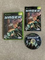 Yager (Microsoft Xbox, 2004) CIB Complete w/ Manual Tested Free Ship Works Great