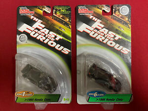 Racing Champions Fast & The Furious Series 1 6 95 Honda Civic Heist Car Lot of 2