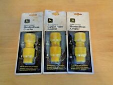 Lot of 3 NOS John Deere Garden hose Quick Connect Couplers ~ Free Shipping