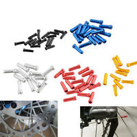 50pcs Aluminum Bike Bicycle Brake Shifter Inner Cable Tips Wire End Cap Crimp LD