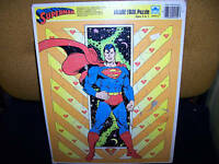 SUPERMAN 1989 FRAME TRAY PUZZLE 11x14inch DC comics