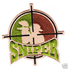 PAINTBALL CAMO ** SNIPER ** PATCH Sticker Airsoft