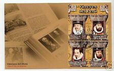 PERU FDC cover Spain vice Kings America discovery Military art painting portrait