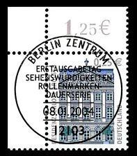 BUND SWK-Euro 0,25 €, Mi. 2374 - Eckrand o.l. mit ESST (Residenzschloss Arolsen)