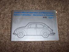 1973 Volkswagen VW Beetle Bug Type 1 Owner User Guide Manual RARE ORIGINAL