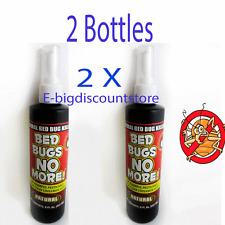 2X Bed Bugs No More Control Natural Killer Pump Spray Bedbug Insect NON HARMFUL