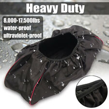 More details for car winch cover black waterproof anti-dust soft winch cover for driver recovery