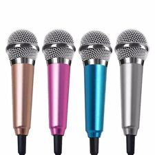 Portable Singing Mic Wired Stereo Mini Pocket Karaoke Microphone For Cell Phone