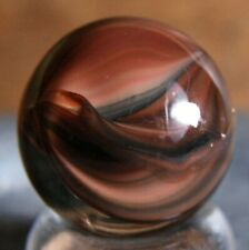 LOVELY PECULIAR MULTI COLORED HYBRID CATS EYE MARBLE 15mm COPPER LIKE COLORS