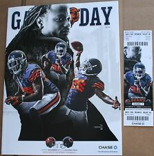 2014 Chicago Bears Tampa Bay Buccaneers Program w/Ticket Tim Jennings Cover
